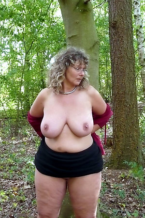 Chubby mature forest sluts flashing in a woods