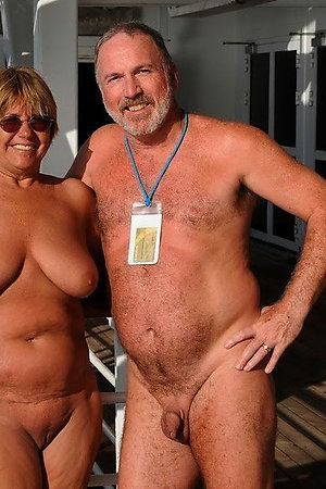 Naturist grannies on a naked boat