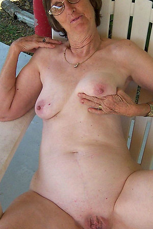 Naturist grannies near their houses