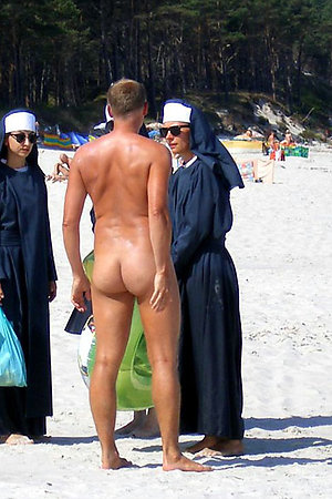 Shocking pictures of nudists