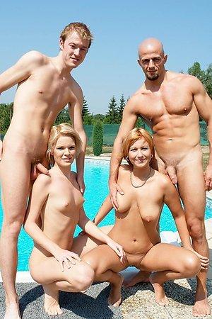 Nudist Couples in Public
