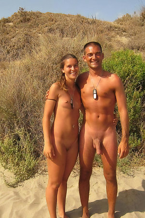 Nudists with age difference completely naked