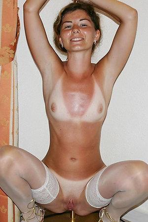 Horny amateur nudists outside