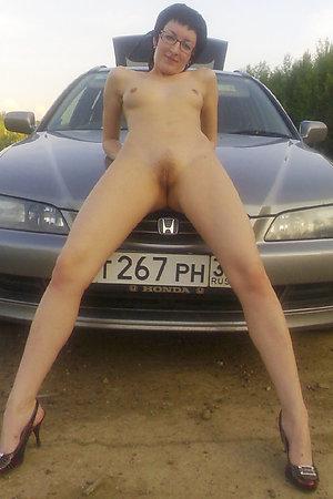 Hot amateur nudists outside