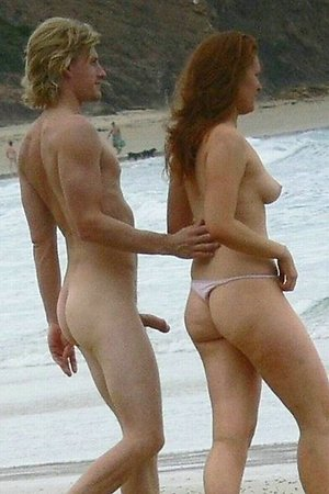 more nudist sexuality - accidental erections on beach