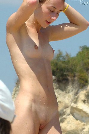 Nudist beach voyeur photos - series of shots