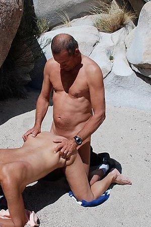 Nudists have a sex on nudist beach