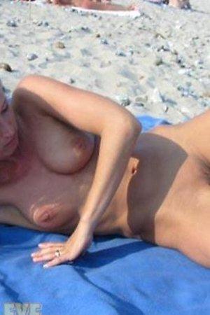 Amateurs at beach posing