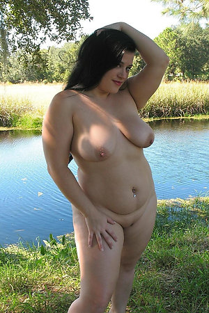 Charming young fat nudist girls outdoors