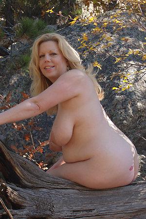 Older nudist ladies, some with visible genitals