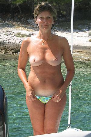 Nudist grannies on naturist boat