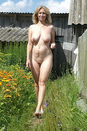 Naturist older ladies posing for camera