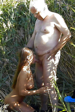 Nudist old men with nudist young girls