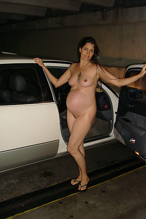 Pregnant women driving and flashing everywhere