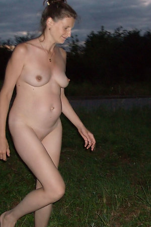 Pregnant naturist girls nude in woods