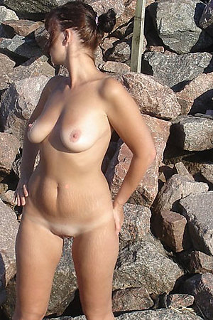 Amateur nudists naked in nature