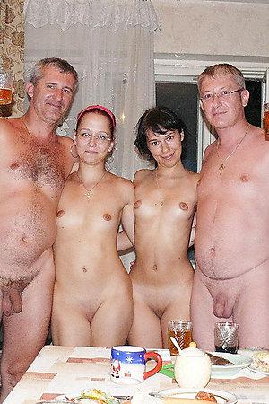 Amateur nudist families exposed