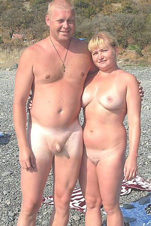 Horny nudist couples at the beach