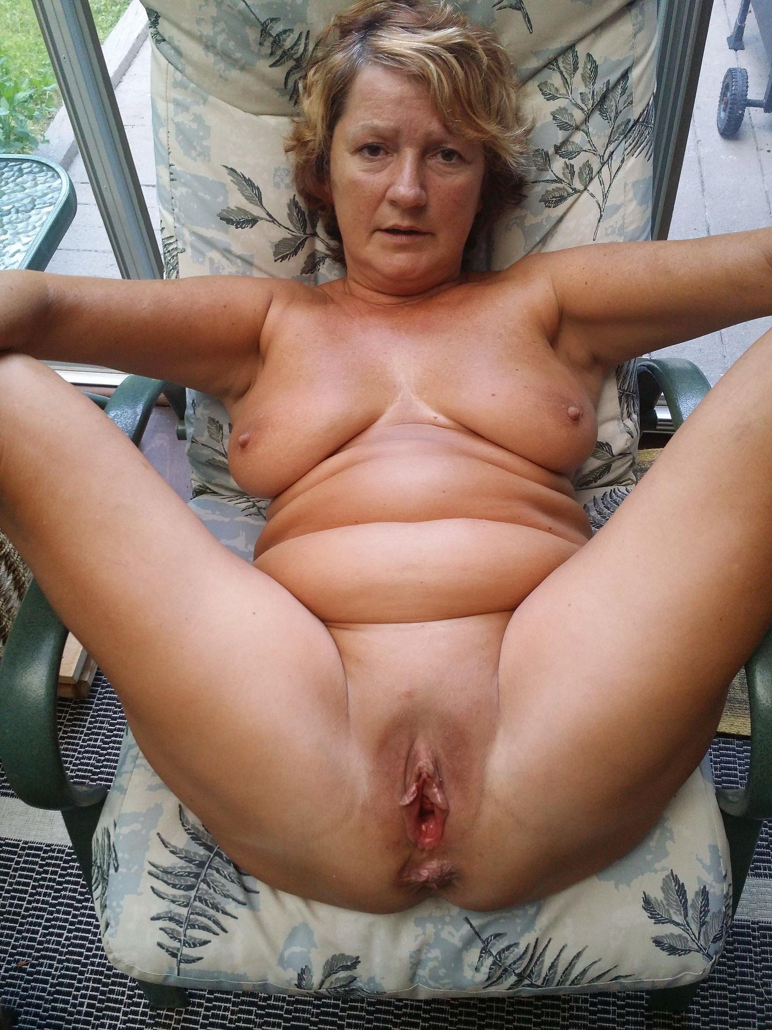 Nude old granny spread