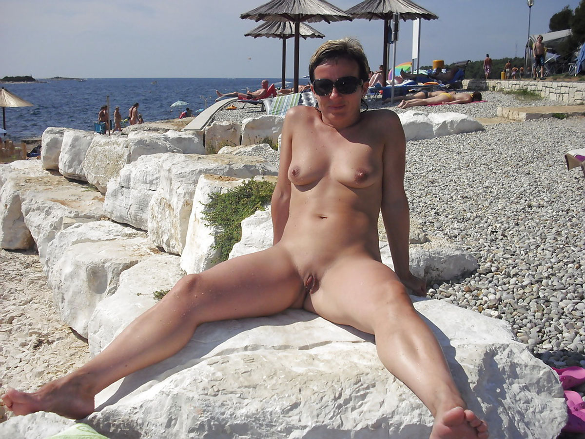 Nude beach and a goat